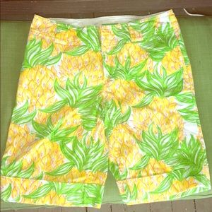 Lilly Pulitzer Palm Beach Pineapple Bermuda Shorts